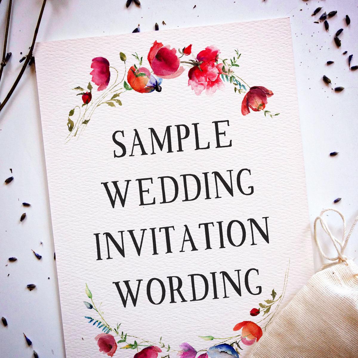 Simple Wedding Invitation Wording Unique Wedding Invitation Wording Samples From Traditional to