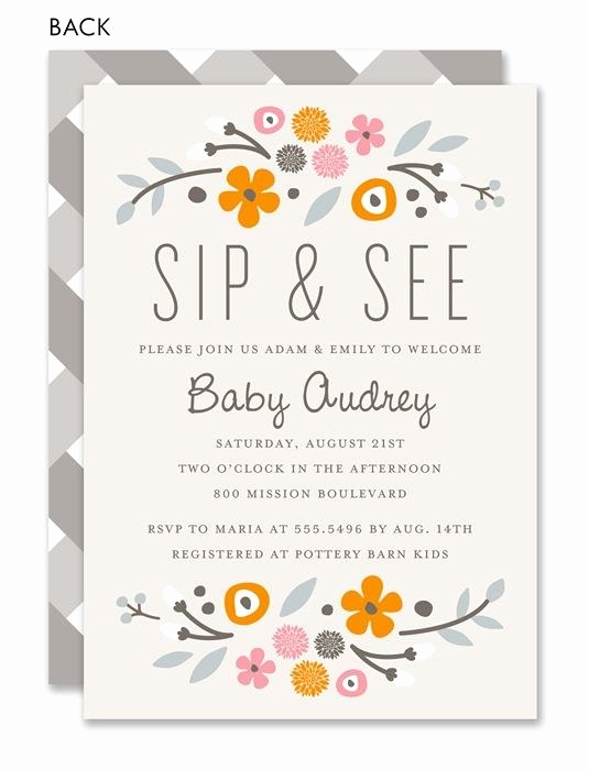 Sip and See Invitation Wording Elegant 17 Best Images About Sip and See On Pinterest