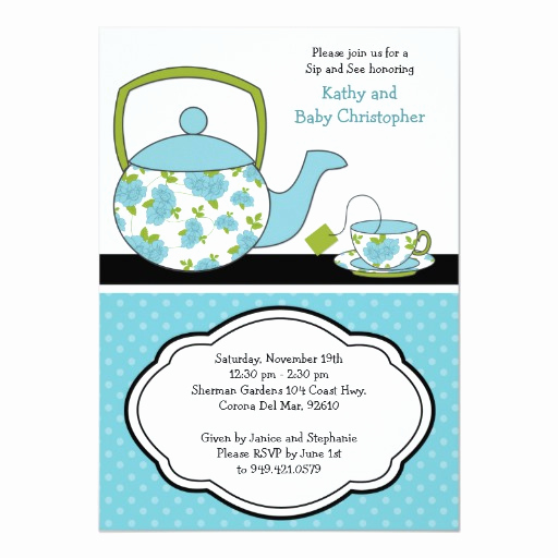 Sip and See Invitation Wording Inspirational Sip and See Baby Shower Invitation