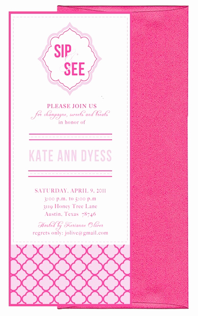Sip and See Invitation Wording New Sip and See Invitation Wording Party Pinterest