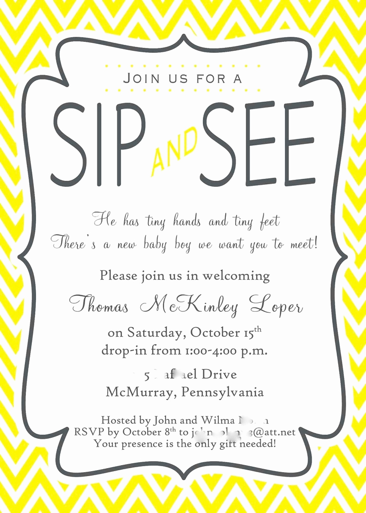 Sip and See Invitation Wording Unique 25 Best Ideas About Open House Invitation On Pinterest