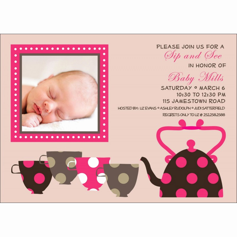 Sip and Shop Invitation Awesome Sip and See Tea Cups Baby Shower Printable Invitation Beige