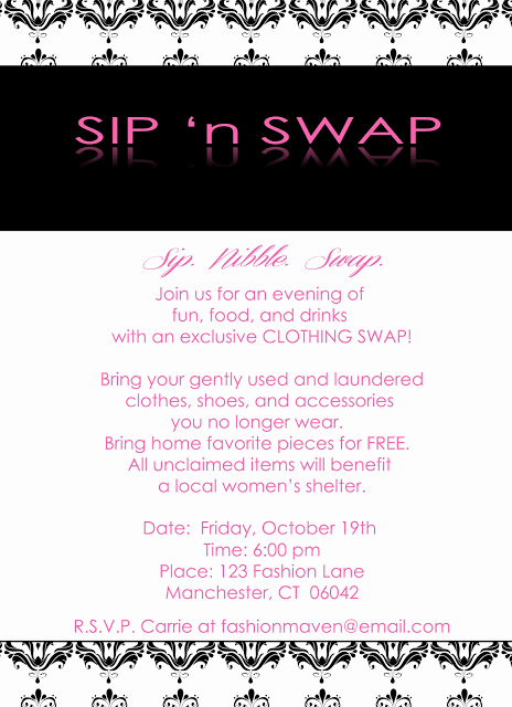Sip and Shop Invitation Best Of Sip N Swap Party Collection Invitation