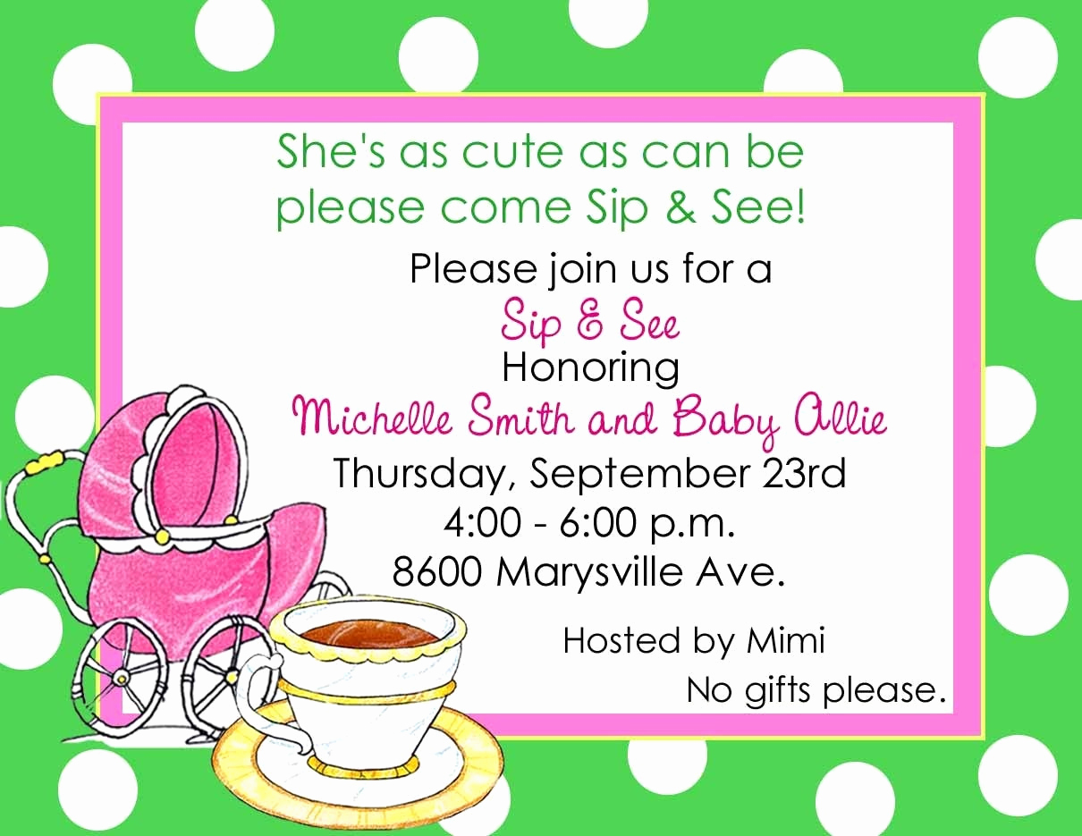 Sip and Shop Invitation Elegant Items Similar to 10 Sip and See Baby Shower Invitations or