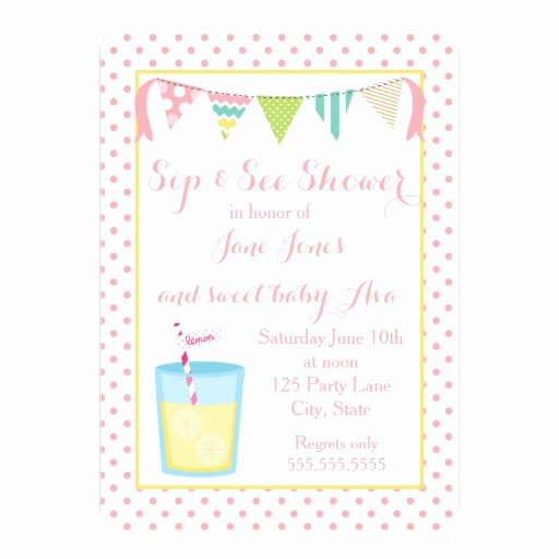 Sip and Shop Invitation Inspirational Sip and See Shower Invitation