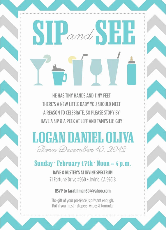 Sip and Shop Invitation Lovely Reserved for Michelle Baby Sip and See by Apinchoflovely