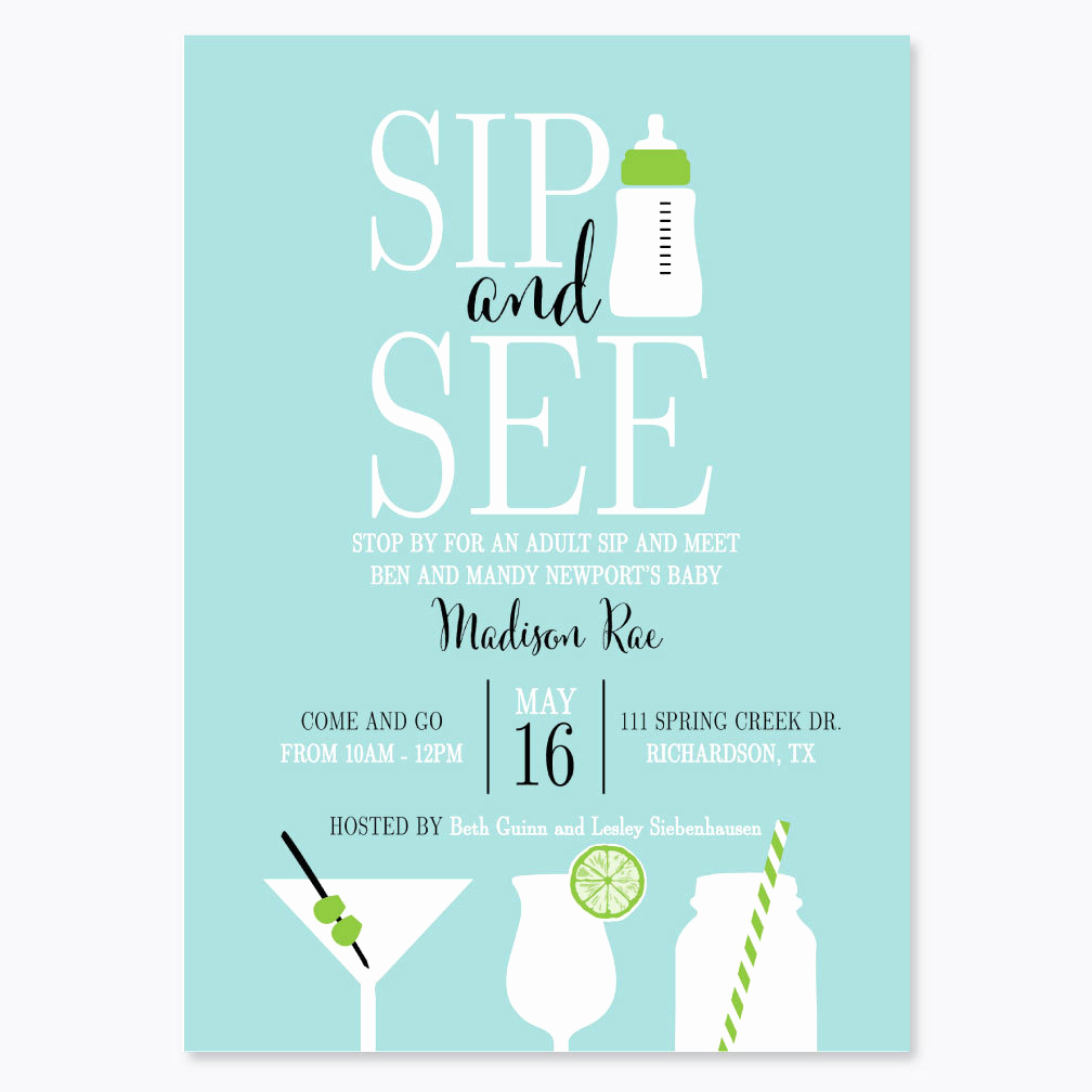 Sip and Shop Invitation Lovely Sip and See Baby Invitation Baby Bottle Shower Invitation