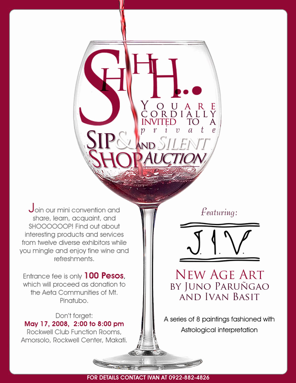 Sip and Shop Invitation Lovely Sip and Shop Invitation by Ice Works On Deviantart