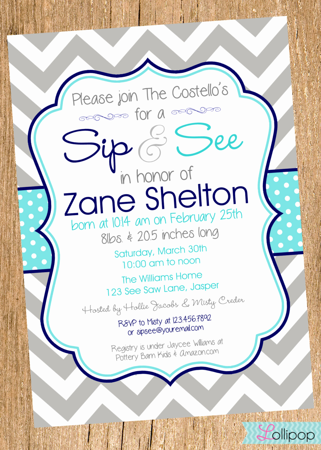 Sip and Shop Invitation Unique Boy Sip and See Shower Printable Invitation by Lollipopink