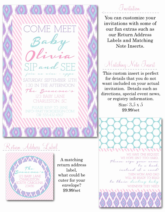 Sip N See Invitation Wording Inspirational Sip and See Pinterest
