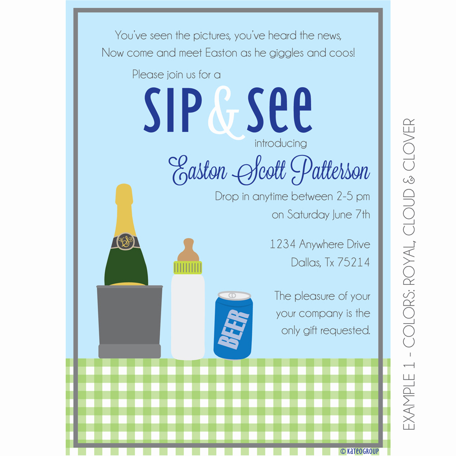 Sip N See Invitation Wording Lovely Boozy Sip and See Invitation Baby Shower
