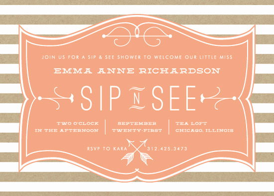 Sip N See Invitation Wording New Baby Shower Invitations Sip N See Frame at Minted