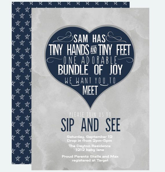 Sip N See Invitation Wording New Joyful Sip and See Invitation Baby Boys by