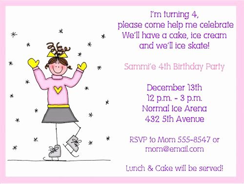 Skate Party Invitation Wording Fresh Ice Skating Invitations Wording