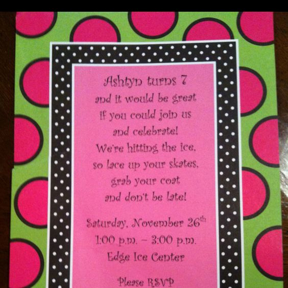 Skate Party Invitation Wording Luxury Ice Skating Birthday Party Invitation Wording