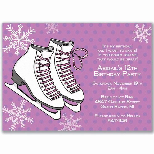 Skate Party Invitation Wording Unique Ice Skating Invitations Wording