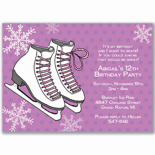 Skating Party Invitation Template Best Of Ice Skating Birthday Invitations Ideas – Bagvania Free