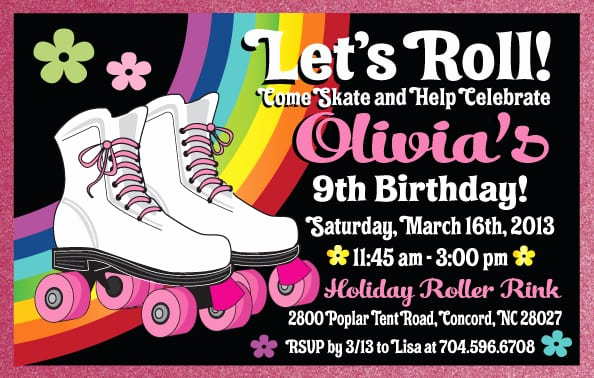Skating Party Invitation Template Fresh Free Roller Skate Party Invitation