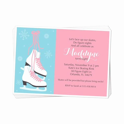 Skating Party Invitation Template Fresh Printable Ice Skate or Figure Skate Party Invitation