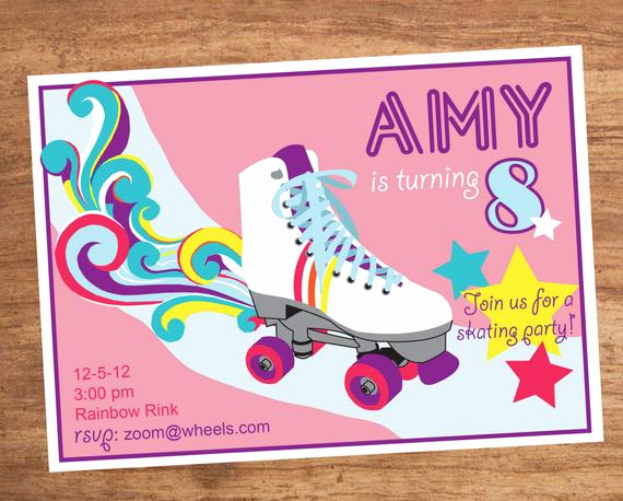 Skating Party Invitation Template Lovely Roller Skating Party Invitation