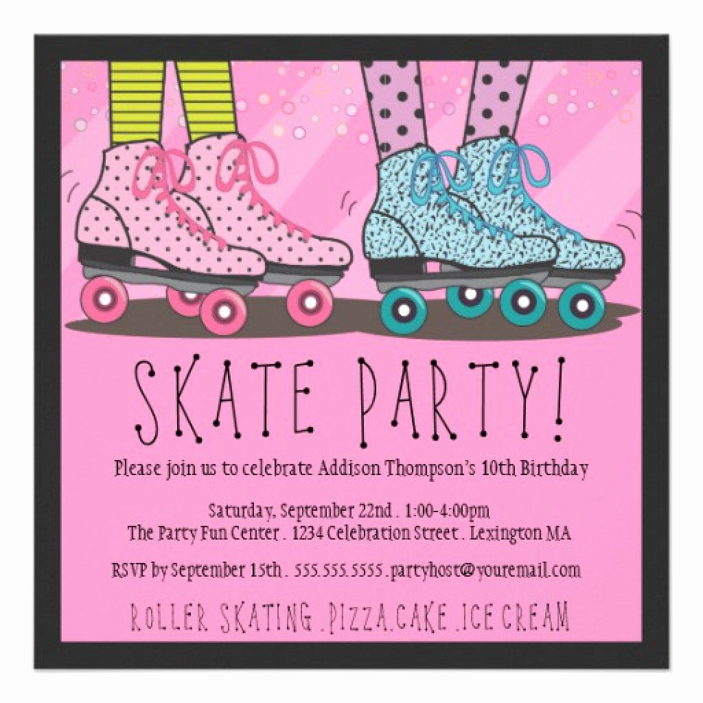 Skating Party Invitation Template Luxury Free Roller Skate Invitation Template