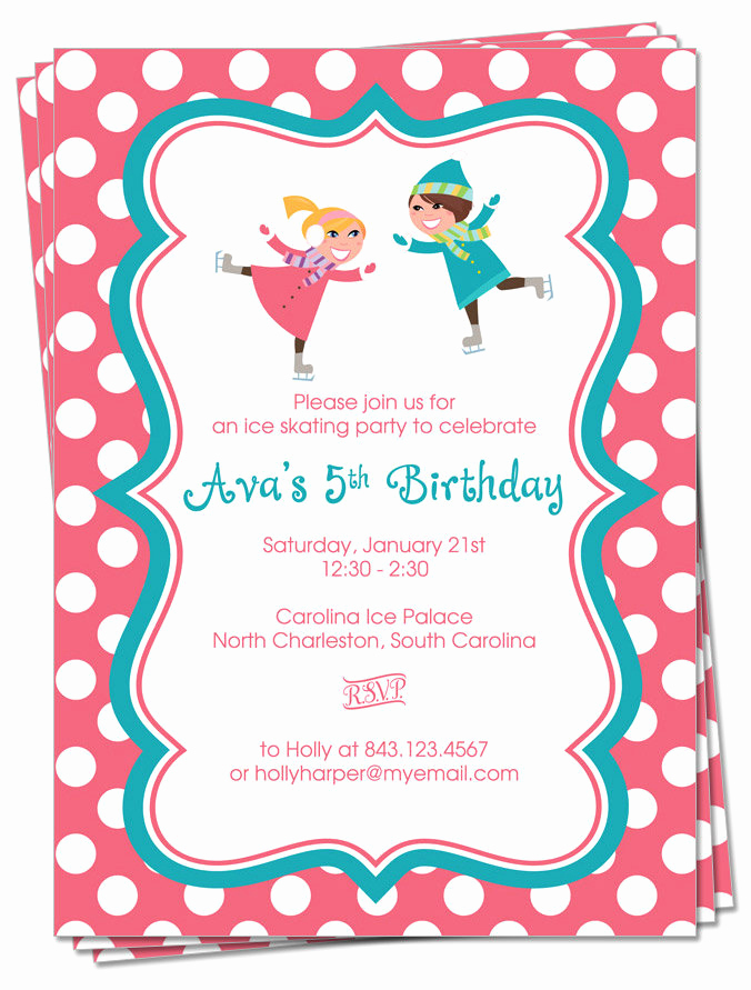 Skating Party Invitation Template Luxury Kitchen & Dining