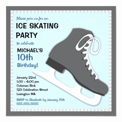 Skating Party Invitation Template New Cool Dudes Ice Skating Birthday Party Invitation