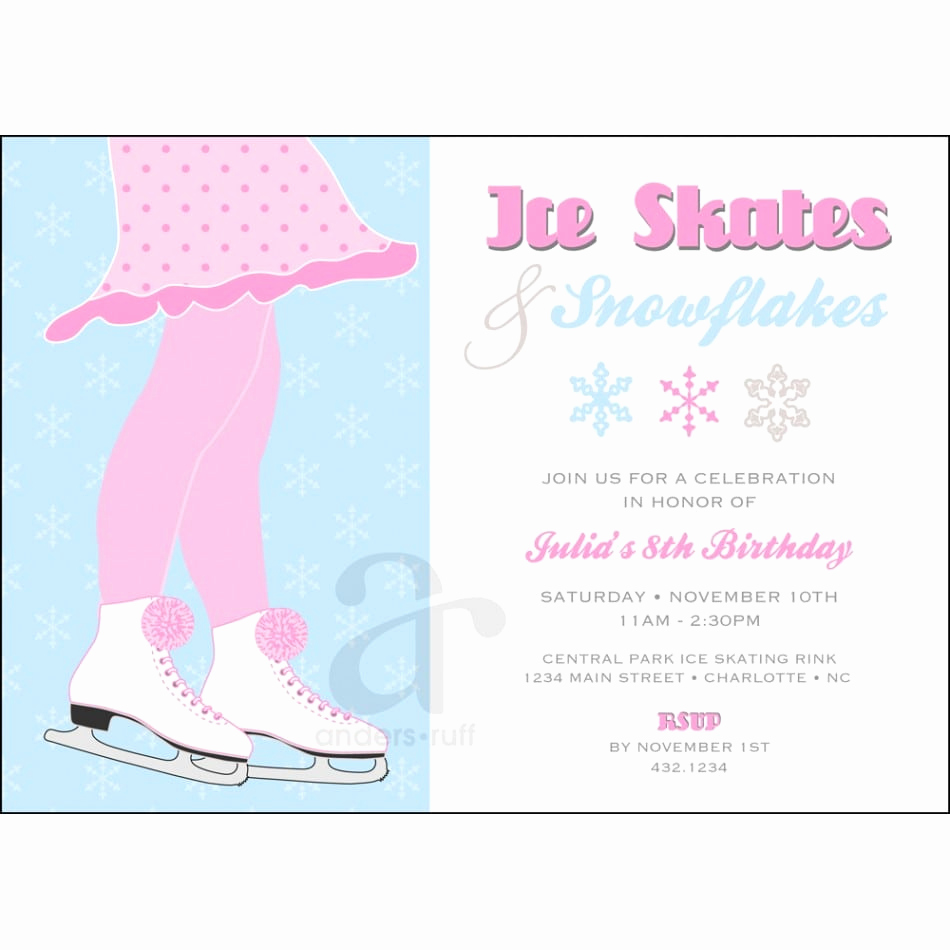 Skating Party Invitation Template New Free Skating Party Invitation Template