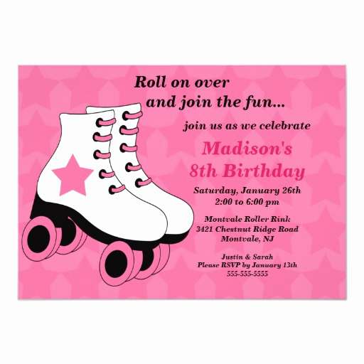 Skating Party Invitation Template Unique Skating Birthday Party Invitation