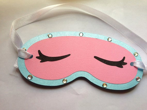 Sleep Mask Invitation Template Awesome Face Mask Design Spa Party Invitations Set Of 6