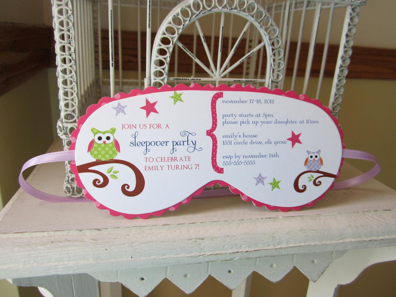 Sleep Mask Invitation Template Best Of Sleeping Mask Invitation Custom Die Cut Perfect for