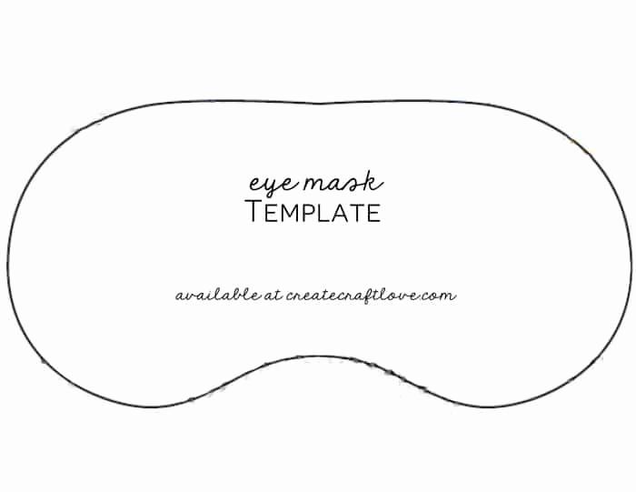 Sleep Mask Invitation Template Fresh Diy Eye Mask