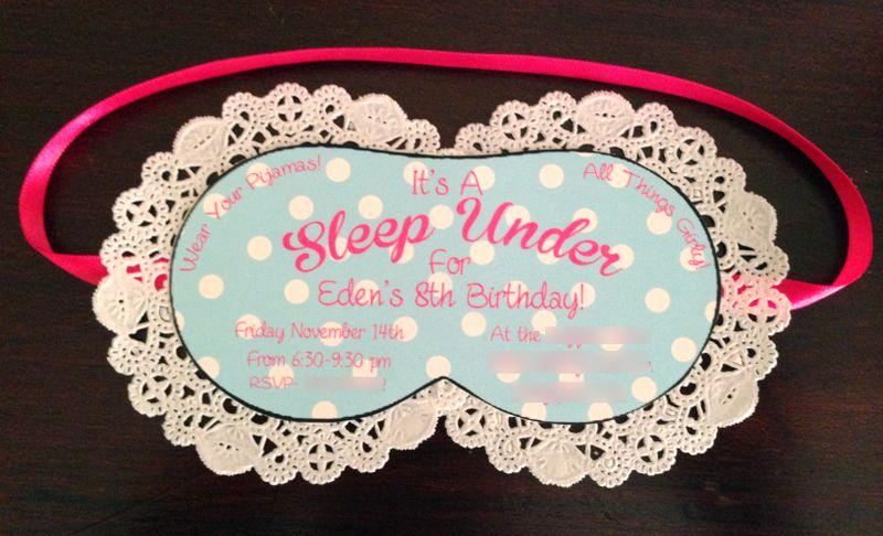 Sleep Mask Invitation Template Fresh Like Mom and Apple Pie Sleep Under Birthday Party