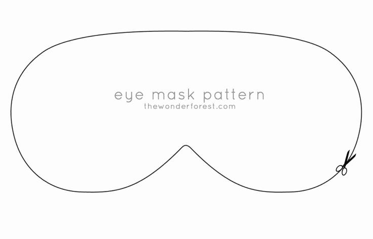 Sleep Mask Invitation Template Unique Patroon Oog Masker