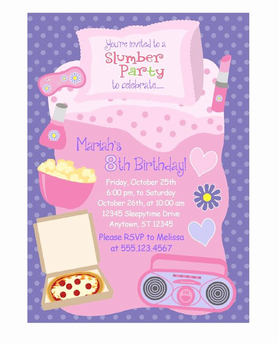 Slumber Party Invitation Ideas Awesome 1000 Ideas About Slumber Party Invitations On Pinterest