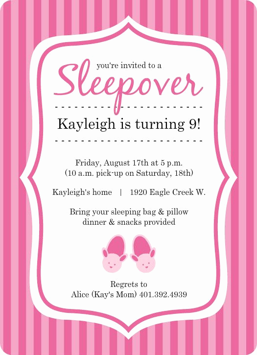 Slumber Party Invitation Ideas Beautiful Free Princess Birthday Slumber Party Invitations Templates