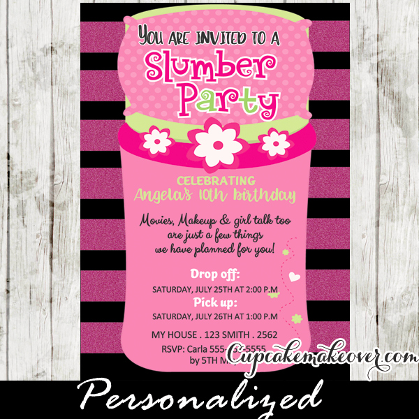 Slumber Party Invitation Ideas Best Of Slumber Party Invitations Pink Sleeping Bag Cupcakemakeover