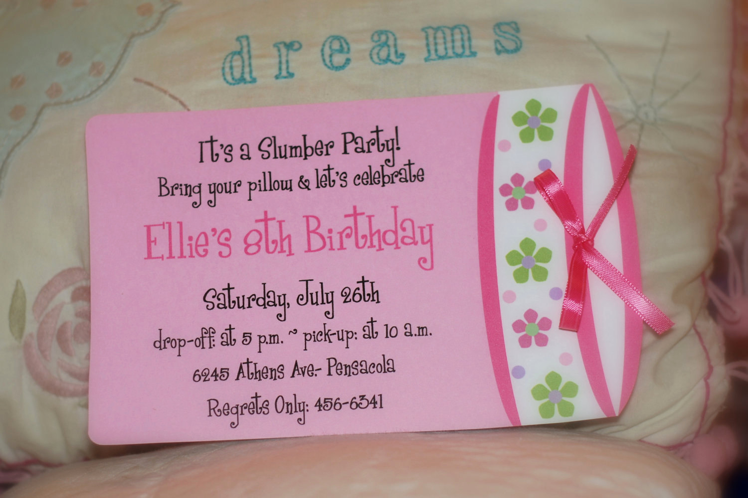Slumber Party Invitation Ideas Elegant Sleepover Birthday Party Invitation or by Palmbeachpolkadots