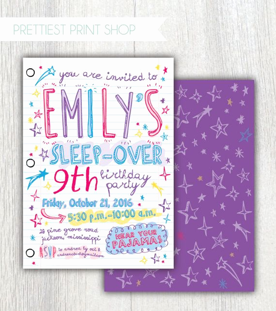 Slumber Party Invitation Ideas New 1000 Ideas About Slumber Party Invitations On Pinterest