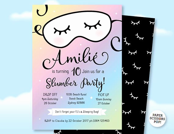 Slumber Party Invitation Ideas Unique 25 Best Ideas About Slumber Party Invitations On