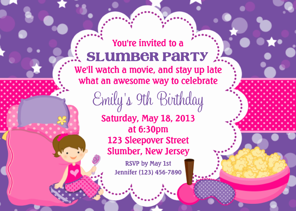 Slumber Party Invitation Ideas Unique Spa Slumber Party Invitations
