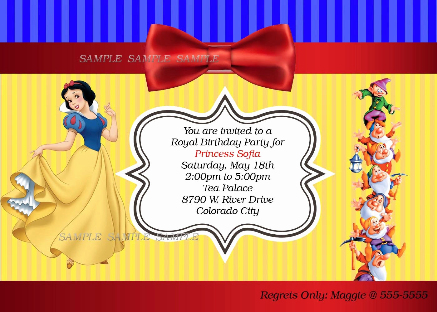 Snow White Invitation Template Awesome Snow White Birthday Party Invitation Wording Letter