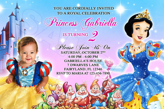 Snow White Invitation Template Beautiful Snow White Birthday Invitations Ideas – Free Printable