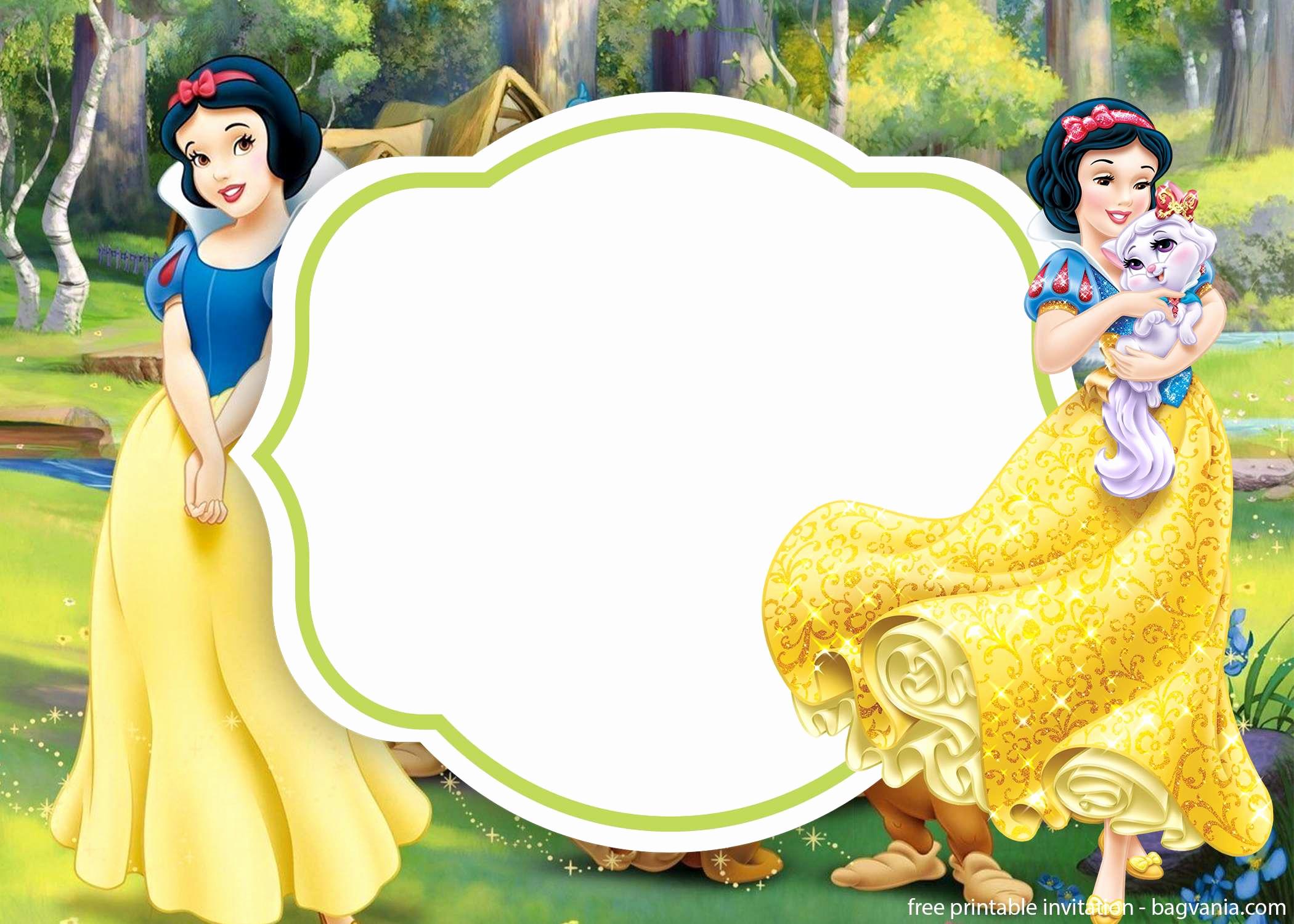 Snow White Invitation Template Inspirational Free Cute Snow White Invitation Template – Free Printable