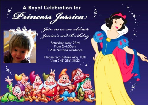 Snow White Invitation Template Inspirational Snow White Birthday Invitations Ideas – Bagvania Free