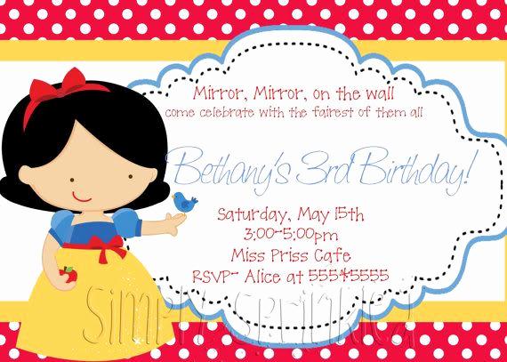 Snow White Invitation Template Lovely Invitaciones De Blancanieves De La Web