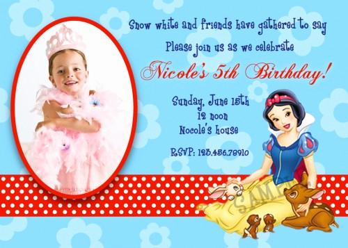Snow White Invitation Template Lovely Snow White Birthday Invitations Ideas – Free Printable