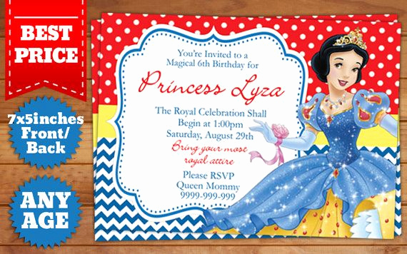 Snow White Invitation Template Luxury This Instant Downloadable is for A Shop Psd