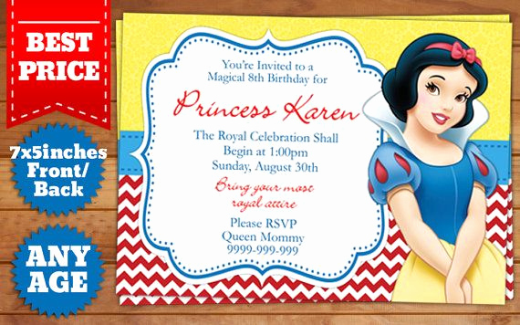 Snow White Invitation Template Unique 17 Best Images About Birthday Invitation Templates On