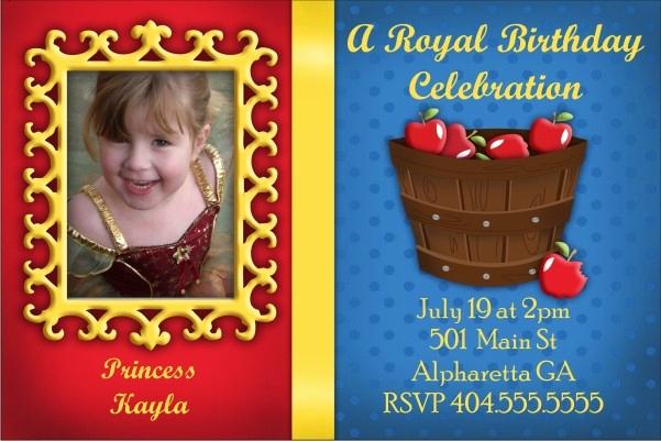 Snow White Mirror Invitation Awesome Snow White Mirror Mirror Invitation Personalized